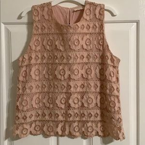Junior size sleeveless top
